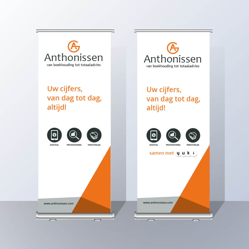 Roll up banner Groep Anthonissen
