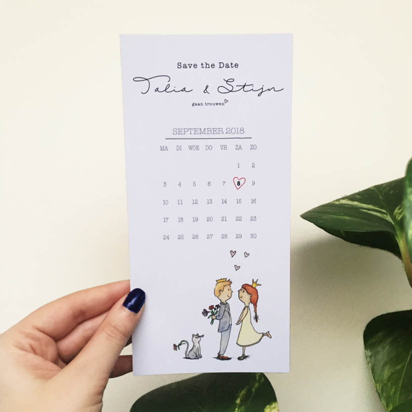 Save the Date Talia x Stijn