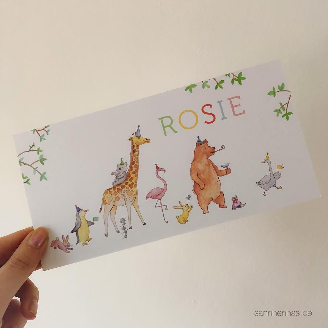 geboortekaartje Rosie