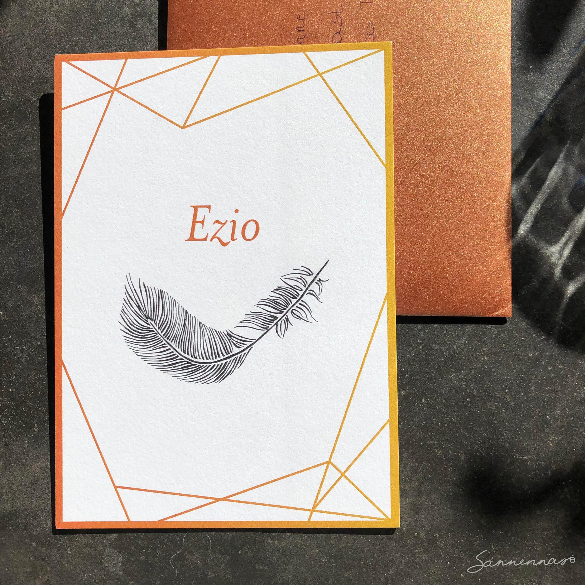 geboortekaartje Ezio